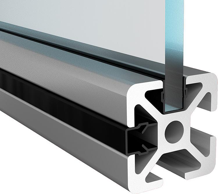 Kipp profil cache rainure joint de remplissage type b et type i - Profile aluminium rectangulaire ...